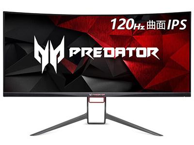宏碁 掠夺者X34P 34英寸120Hz刷新G-Sync技术IPS广视角100\%sRGB曲面电竞显示器
