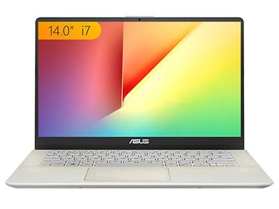 华硕 灵耀S 2代 英特尔酷睿i7 14英寸微边超轻薄笔记本电脑(i7-8565U 8G 256GSSD MX150 2G IPS)冰钻金