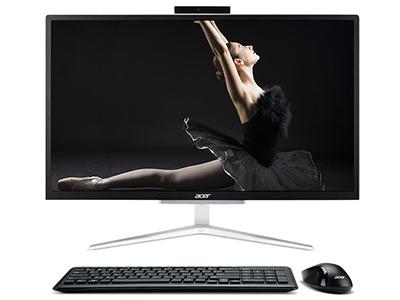 宏碁 蜂鸟一体机C22-820 超轻薄一体机电脑 21.5英寸(英特尔四核J4105 4G 128GSSD win10 Wifi 键鼠)