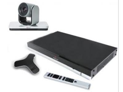 寶利通  Polycom Group 550 產品用途:視頻會議,大中型會議室  輸入輸出:兩路鏡頭輸入(HDCI,SDI),兩路熒幕輸出(HDMI)、支持雙流   內置MCU:內置MCU,支持高達 6 路多點視頻會議