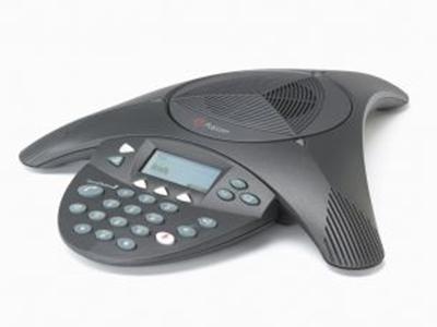 寶利通  SoundStation 2標準型 適用于30平左右會議室,帶有LCD液晶顯示屏。拾音范圍達 3.5 米!