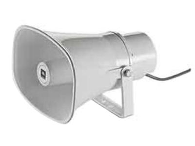 CSS-H15 廣播號角喇叭  頻響范圍(-10 dB):400 Hz- 7.5 kHz 額定功率:15W/60W(峰值) 靈敏度:105 dB 最大聲壓級:117dB/123dB(峰值) 額定阻抗:8 ohms