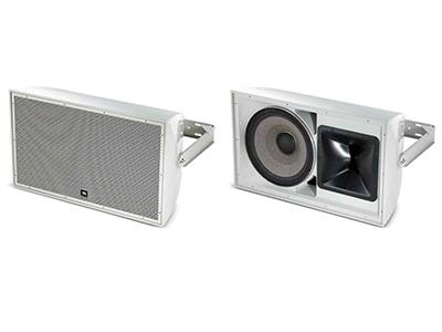 "AW500系列揚聲器  一款輕盈的大功率兩分頻全頻揚聲器系統,配有JBL Differential Drive雙音圈和雙磁隙的2265H 380mm (15"" )低音單元和2432H 38 mm(1.5"" )高音壓縮單元配75mm (3"")音圈。"