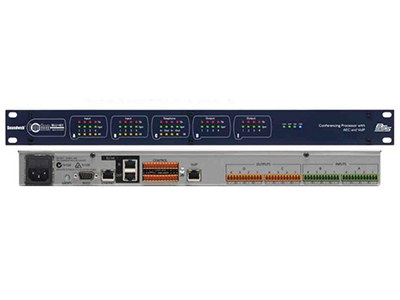 BSS BLU-103音頻媒體矩陣  8個模擬輸入(每個聲道都有48v幻像電源) 8個模擬輸出 VoIP端口 可配置的信號處理器 8個有自動增益控制與噪聲消除的AEC處理通道 具有豐富的處理和邏輯對象 48通道,低延遲,容錯數字音頻總線
