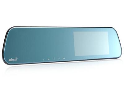 第1现场 D208升级版 后视镜行车记录仪 5英寸IPS大屏 双镜头170度广角 微光夜视 前后双录