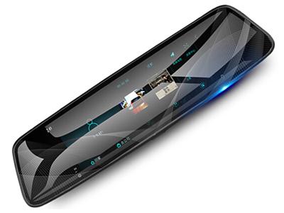 第1现场 M11 流媒体后视镜行车记录仪  10英寸全面屏设计 1080P高清双镜头无光夜视五倍视野
