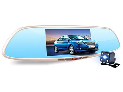 第1现场 D9000无光夜视升级版行车记录仪  5英寸IPS高清触摸显示屏幕前后双镜头星光智能驾驶辅助
