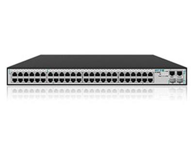 艾泰  ST3552F  48口千兆+4口万兆管理型交换机 48个千兆以太网电口,4个万兆SFP+光口  256Gbps背板带宽,高交换容量,全线速转发  拥有多种用户认证方式及强大的ACL  支持丰富的交换特性,强大的流量控制  支持灵活的管控方式,提供WEB管理
