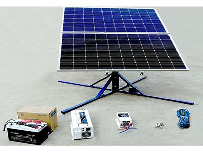 500W追日发电套装 220v冰箱空调水泵家民商用太阳能全自动追日跟踪离网光伏发电系统