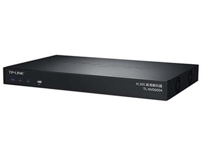 TP-LINK  TL-NVD6004  4路高清视频解码器 支持H.265/H.265+/H.264/H.264+等视频解码技术; 支持最多4路HDMI接口输出,单个接口最高支持4K分辨率输出; 最高支持4路800万,或8路400万,或16路200万,或最高64路VGA分辨率及以下同时解码; 支持最多4块屏幕按照任意方式拼接,自定义屏幕摆放方式; 预览画面灵活调整,根据实际场景,设置任意通道的大小和布局,支持跨屏幕显示;总共支持最多64路预览画面同时展示; 支持TP-LINK发现协议、支持ONVIF标准协议发现和接入、支持RTP/RTS协议接入; 支