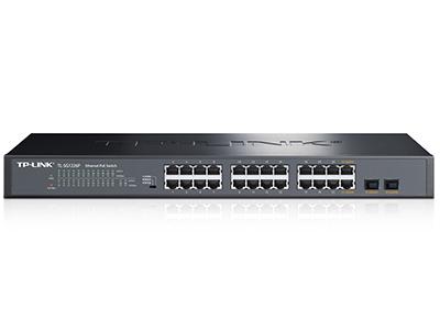 TP-LINK TL-SG1226P 24口千兆POE交换机 (2千兆光纤口)