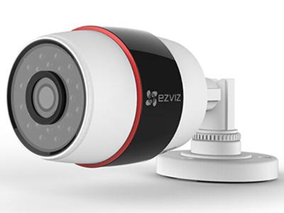 """萤石  CS-C3S-52(WE)FR  室外半球摄像机  """"200万像素/30米红外,支持Wifi+Poe,移动侦测报警,防水防尘,支持客流统计(4mm/6mm) """""""