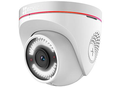 """萤石  CS-C4W-3C2WFR  室外半球摄像机 200万1/2.7"""" CMOS H.265 半球型互联网摄像机,2.8mm, 水平视场角:103° 对角118° 距离15m,4mm, 水平视场角:87° 对角104° 距离25m,6mm, 水平视场角:54° 对角62° 距离38m,支持Micro SD 卡(最大128G),支持个性语音录入功能,支持语音双向对讲"""