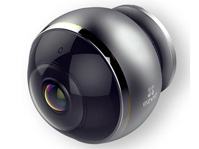 萤石  CS-C6P-7A3WFR  全景摄像机 300万像素/7.5米红外,双频wifi,360度全景,支持全屏、鱼眼、四分屏显示,双向语音对讲