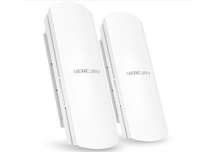 水星  MWB205  无线网桥 2.4G,300M,5公里,自带POE模块供电,支持电源适配器远程复位
