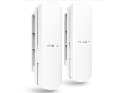 水星  MWB201  无线网桥 2.4G,300M,1公里,自带POE模块供电或电源适配器供电