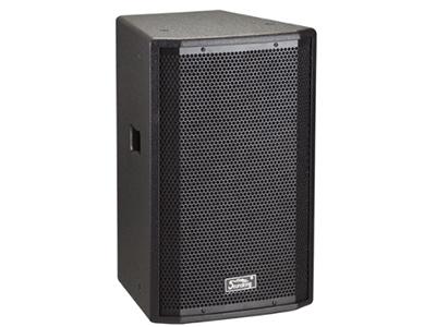 """音王   二分频8"""" 全频音箱   """"类型  二分频8"""""""" 全频音箱   频率响应  75Hz~20kHz (-10dB)   灵敏度(1W@1m)  92 dB  额定阻抗  8Ω    额定功率  150W(连续),600W(峰值)  分频点  2.7kHz  低音单元  8"""""""" 中低音 / 50mm音圈  高音单元  PEN膜 / 34mm音圈  覆盖角(水平x垂直)  90°x40° 最大声压级(@1m)  120dB(峰值)    重量  11Kg   箱体尺寸(WxHxD)  268x420x247 (m"""