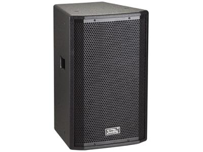"""音王  二分频15"""" 全频音箱  """"类型  二分频15"""""""" 全频音箱  频率响应  45Hz~20kHz(-10dB)    灵敏度(1W@1m)  97dB  额定阻抗  8Ω    额定功率  400W(连续),1600W(峰值)   分频点  2.5kHz  低音单元  15"""""""" 中低音 / 75mm音圈   高音单元  PEN膜 / 34mm音圈  覆盖角(水平x垂直)  90°x40° 最大声压级(@1m)  129dB(峰值)    重量  11Kg   箱体尺寸(WxHxD)  268x420x247"""