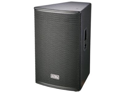 """音王  12"""" 两分频无源音箱 """"类型  12"""""""" 两分频无源音箱  频率响应  50Hz—20kHz(-10dB)  灵敏度(1W@1m)  96dB  额定阻抗  8Ω     额定功率   250W( 连续),1000W (峰值)    分频点   2.2kHz     低音单元  12"""""""" 低音/65mm 音圈   高音单元  34芯压缩驱动器/1寸喉口  覆盖角(水平x垂直)  80°x60°  最大声压级(@1m)  123dB   输入方式  2×SPEAKON+2×JACK   箱体尺寸(WxHx"""