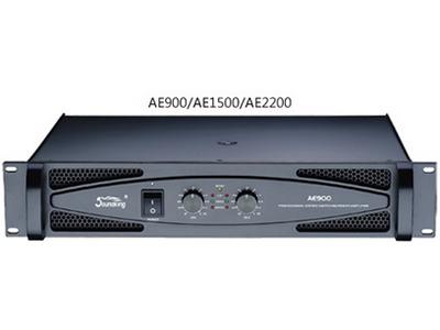 """音王 AE3000  功率放大器 """"8Ω立体声功率  2x1050W 4Ω立体声功率  2x1500W  8Ω桥接功率  3000W 输入灵敏度  1.4V/32dB/26dB 频率响应(@ 1W)  (20Hz-20kHz)±0.5dB 信噪比(A加权)  100dB 总谐波失真(额定输出功率)"""