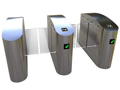 半高平移闸P03BD  【产品介绍】 智能摆闸能方便兼容IC卡、ID卡、条码卡、指纹等读卡识别设备的使用,为出入人员提供文明、有序的通行方式,有效管理人员进出。可广泛应用于车站、码头、地铁、工厂、大厦、智能小区、宾馆、会所、企事业单位等需要对通道实现智能化管理的场合 分为:单机芯:用于单通道和多通道;双机芯:用于多通道。 【功能特点】 ● 具有故障自检和报警提示功能,方便用户维护及使用; ● 通过主控板上的内置小按盘,可编程设备的运行状态; ● 机械结构防夹、防碰伤功能,在门体复位的过程中遇阻时,在规定的时间内电