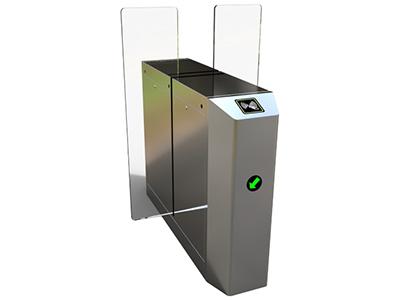 全高平移闸  平移闸能方便兼容IC卡、ID卡、条码卡、指纹等读卡识别设备的使用,为出入人员提供文明、有序的通行方式,有效管理人员进出。可广泛应用于车站、码头、地铁、工厂、大厦、智能小区、宾馆、会所、企事业单位等需要对通道实现智能化管理的场合 分为:单机芯:用于单通道和多通道;双机芯:用于多通道。 【门禁功能特点】 ● 具有故障自检和报警提示功能,方便用户维护及使用; ● 通过主控板上的内置小按盘,可编程设备的运行状态; ● 机械结构防夹、防碰伤功能,在门体复位的过程中遇阻时,在规定的时间内电机自动停止工作