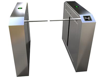 一字闸Z01BD-01  该设备将机械、电子、微处理器控制及各种身份识别技术有机地融为一体,方便兼容IC卡、ID卡、条码卡、指纹等读卡识别设备的使用,通过选配各种身份识别系统设备和采用性能可靠的安全保护装置、报警装置、方向指示等,协调实现对通道智能化控制与管理等。 分为:单机芯:用于单通道和多通道;双机芯:用于多通道。 【一字闸门禁功能特点】 ● 具有故障自检和报警提示功能,方便用户维护及使用;  ● 通过主控板上的内置小按盘,可编程设备的运行状态;  ● 机械结构、感应双重防夹功能,在一字棍复位的过程中遇阻时,自动