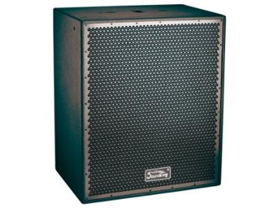 """音王  TS-SUB 工程音响 """"类型  18寸超低频无源音箱   频率响应  45Hz~250Hz(±3dB)    37Hz~280Hz(-10dB)   灵敏度(1W@1m)  101dB   额定功率  2400W (连续), 9600W (峰值)   额定阻抗  8Ω×2   分频点  200Hz   低频扬声器  2X18"""" 低频纸锥扬声器/100mm音圈   最大声压级(@1m)  141dB   输入连接器  2XSPEAKON   箱体尺寸(WxHxD)  760x910x510(mm)   净"""