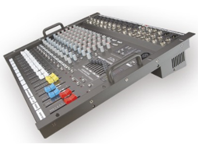 """音王  AS1404G(机架式)  调音台 """"MIC输入通道  10  立体辅助输入通道   4   磁带输入  2   立体主输出  2   ALT立体输出    2   控制室立体输出 2   效果辅助输出  2   磁带输出   2   增益  70dB(MIC 主输出)   频率响应  (20Hz-20kHz) ±1dB   等效输入噪声电平  -125dB (不计权)   输出电平  最大+26dB(平衡)    最大+22dB(非平衡)   均衡器:单通道  低:100Hz±15dB    中:(350Hz-"""