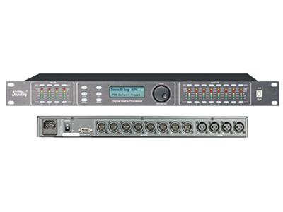 """音王  AP48  音频处理器 """"输入 4 x XLR平衡式  输出 8 x XLR平衡式  阻抗 1MΩ/立体声输入,500KΩ/单声道输入 输入最大电平 +20dBu  共模抑制比  高于50dB(30Hz~20KHz)  输出: 阻抗<500Ω, 平衡输出  输出最大电平 +20dBu  频率响应 20Hz~20kHz,+/-0 5dB.  信噪比 >115dBu  失真"""