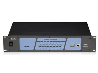 """音王  SPS8F  时序电源 """"电源 AC 220V/50Hz  总输出电流 30A  每个通道的最大输出电流 16A  电源控制 8 路  延迟时间 2秒  尺寸(长×宽×高) 88×483×260(mm)  重量 6.5kg """""""
