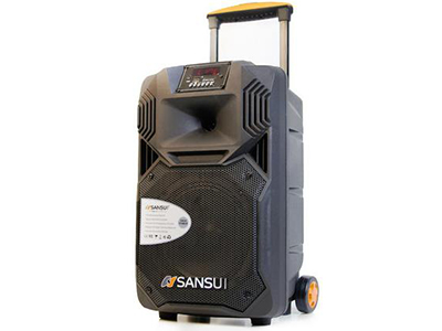 """山水  SS1-12  电瓶箱 """"12寸喇叭、80磁高音 电池:7.5Ah 功能:消原音,蓝牙、语音、录音、话筒优先、带遥控 无线咪:U-3606DT32S(781.85/788.85) 功率:60W"""""""