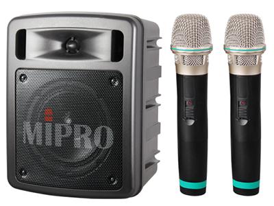 咪宝MA-303DB双通道蓝牙户外扩音器便携无线喊话音响充电音箱