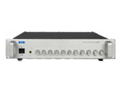 "FiFi   L-2002  广播前置放大器 ""功能特点: ■标准(2U)机柜式设计,银色喷砂面板,高档大气。 ■具有5路话筒(MIC)输入,第1路话筒(MIC1)具有最高优先级、优先强行切入功能, ■3线路标准信号(AUX)输入 ■2路紧急线路(EMC)输入,4路紧急输入线路具有二级优先,强行切入优先功能 ■MIC1和EMC最高优先权限功能可通过拨动开关选择,均附有线路辅助输入接口功能 ■MIC1、2、3、4和AUX1、2、3可交叉混合输出, ■话筒(MIC)输入和线路(AUX)输入可独立调节,设有总音量调节,高低音调节,具有默音调"