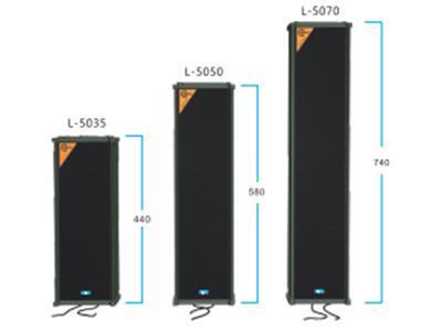 "FiFi  L-5035  防水音柱扬声器 ""功能特点: 宽频响灵敏度音柱扬声器,适用于广播扩声和背景音乐。主要用于:火车站、地铁、教堂、工厂、仓库和公园等大型场所。适于室外使用。FA-5由5寸全频喇叭和1个强磁号角高音组成.具有很高的语音清晰度。 设备参数 型号:L-5035 额定功率:35W 额定电压:110V 频率响应:80Hz-16KHz  喇叭单元:5""x2+1强磁高音 尺寸:165x145x440mm """