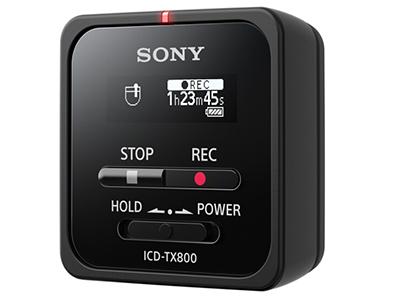 索尼  录音笔ICD-TX800 16G 黑色 专业PCM线性录音 微型便携一键取证 蓝牙操控