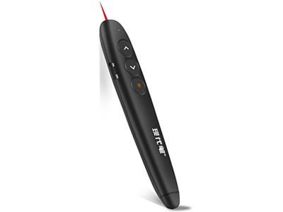 现代笔 P8便携式PPT翻页笔 激光笔 年会遥控投影笔 电子教鞭笔 黑色 红光