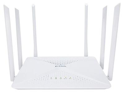 D-Link DIR-846W  6天线,1200兆,MU-MIMO,5个千兆有线口,支持千兆宽带接入,覆盖约120平,覆盖面积较大,中文无线名称,支持波束成形、白色 WAN:1*10/100/1000Mbps LAN:4*10/100/1000Mbps 2.4G 802.11b/g/n 300Mbps 5G 802.11a/n/ac 867Mbps