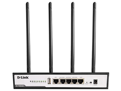 D-Link DI-7100GW+  9寸钢壳,5个千兆端口,推荐待机量150台,推荐外网带宽200Mbps,企业级11ac双频1200M无线路由器,无线2.4G支持300M,5G支持866M,支持上网行为管理、智能流控、VPN及多种认证方式;支持云平台、微信管理、联动管理,最大可管理8个AP