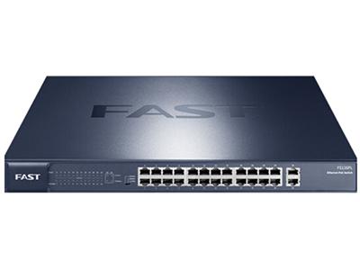 迅捷 FS126PL POE供电交换机 总400W/单口30W 24百兆PoE口+2个千兆上联口