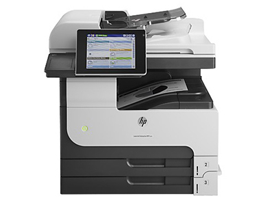 惠普M725dn打印机A3 打印黑白激光多功能复印扫描一体自动双面打印机