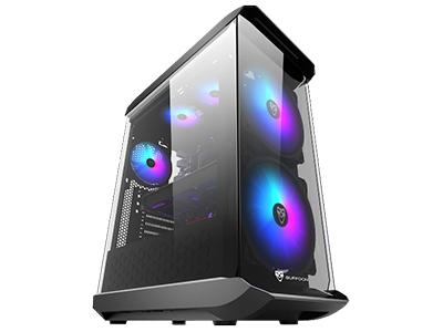 风范  面板自带2个20cmRGB风扇+2个RGB灯条;长446*宽205*高550mm