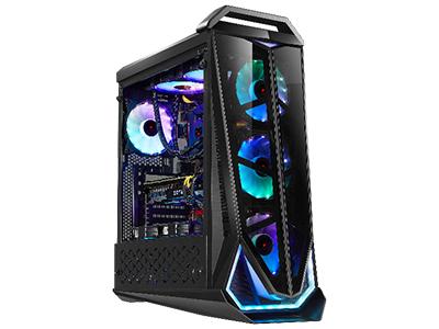 霸天虎  面板自带3个全彩RGB风扇+RGB灯条;长470*宽215*高560mm