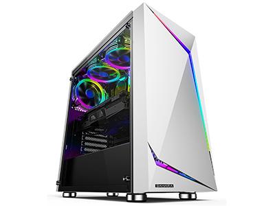 神光7号竞技版白  五金尺寸:D380*W210*H445mm;USB标配:USB3.0*1,USB2.0*2