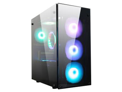 海盗P28极客版黑  五金尺寸:D410*W210*H410mm;USB标配:USB3.0*2,USB2.0*2;四面镜面钢化玻璃,透光效果更好