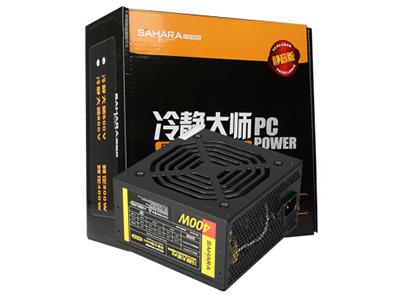 600V静音版(彩盒)  额定功率:400W,被动式PFC,彩色包装盒,黑色电源外壳.黑色扇叶,加长线材,完美支持背部走线.