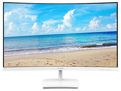 飞利浦271E1SCW  屏幕尺寸:27英寸 面板类型:VA 最佳分辨率:1920x1080 可视角度:178/178° 视频接口:HDMI 1.4,VGA 底座功能:倾斜:-5-20°