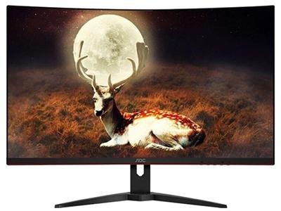 AOC C32G1  屏幕尺寸:31.5英寸 面板类型:VA 最佳分辨率:1920x1080 可视角度:178/178° 视频接口:D-Sub(VGA),HDMI,Displayport 底座功能:倾斜:-5-23°