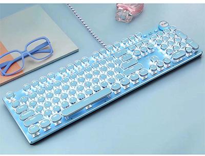新盟kb1000蓝色机械键盘