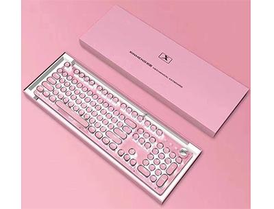 新盟kb1000粉色机械键盘
